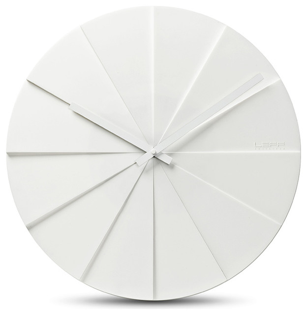 Scope 45 Wall Clock White Leff Amsterdam Modern