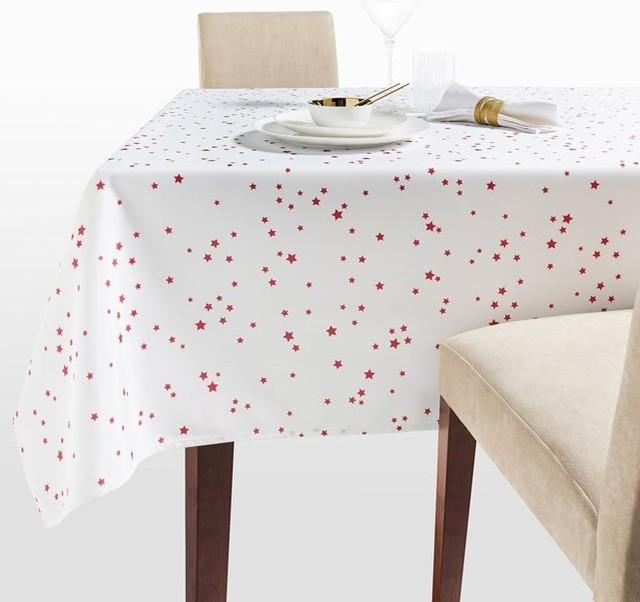 nappe stars imprim e toiles rouges contemporain nappe par la redoute int rieurs. Black Bedroom Furniture Sets. Home Design Ideas