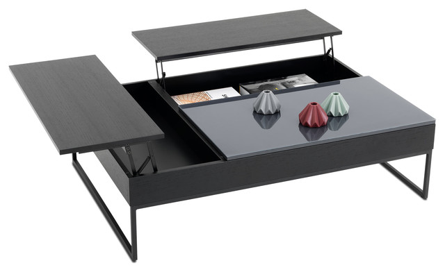 Chiva functional coffee table with storage contemporary for Functional side table