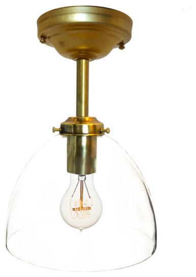 Clear Glass Brass Pendant Light 24 Overall Height