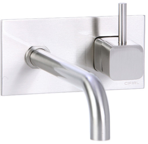 Quadra Wall Mounted Bathroom Sink Faucet With Single
