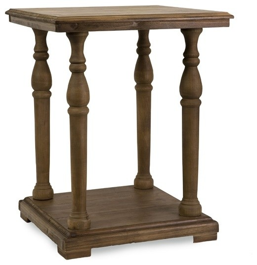 Imax 68004 cameron wood accent table traditional side tables and end tables by lighting Traditional coffee tables and end tables