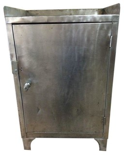 ... Steel Cabinet - Refinished - Industrial - Accent Chests And Cabinets