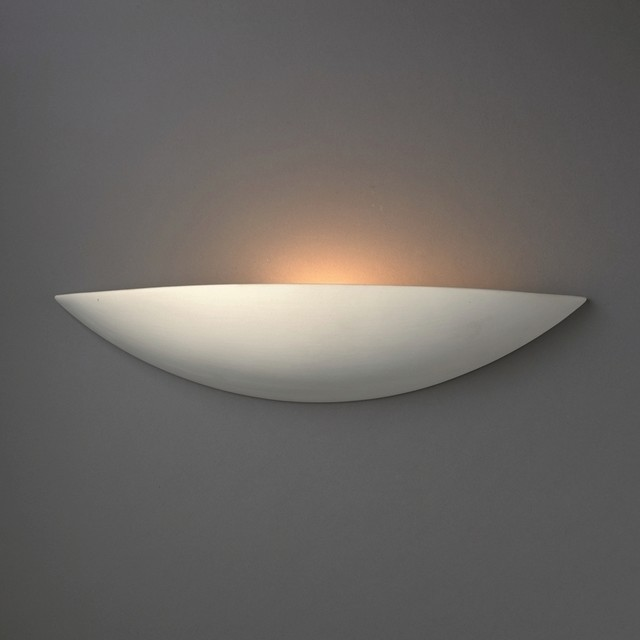 Justice Wall Sconces : Justice Design Group 1-light ADA Small Sliver Ceramic Sconce - Contemporary - Wall Sconces - by ...