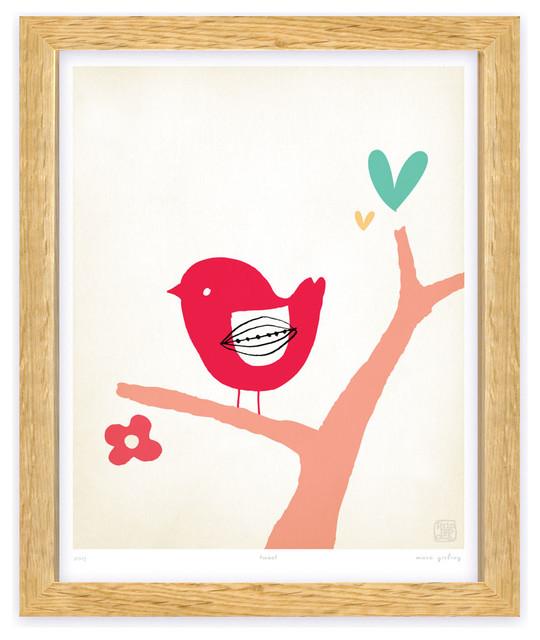 Tweet kids wall art print modern fine art prints other by printspace - Modern kids wall decor ...