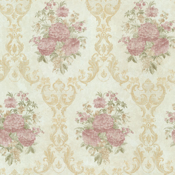 Dutchess light green floral damask wallpaper traditional wallpaper by brewster home fashions
