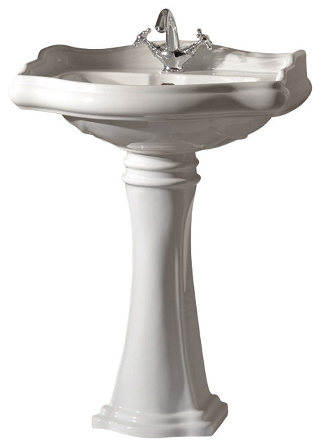 Pedestal Sink Vanity With 1 Faucet Hole - Traditional - Bathroom Sinks ...