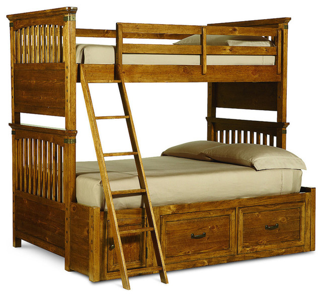legacy classic kids bryce canyon twin over full bunk bed with underbed storage traditional. Black Bedroom Furniture Sets. Home Design Ideas