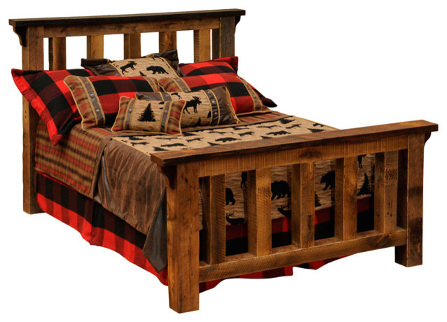 barnwood post bed reclaimed rustic wood california king