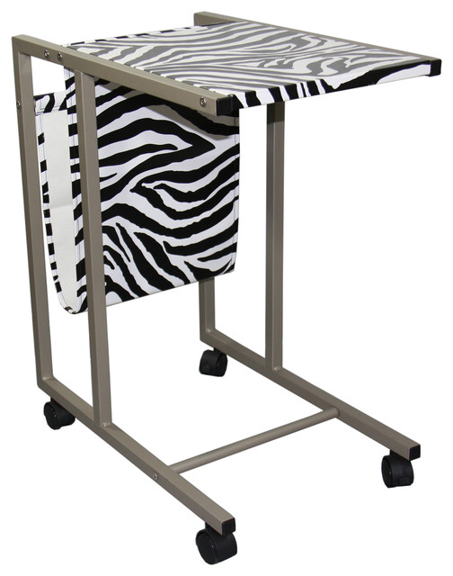 Inch zebra print laptop cart contemporain meuble for Meuble bureau 24