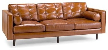 Darrin 89 Inch Leather Sofa Midcentury Sofas By Jcpenney