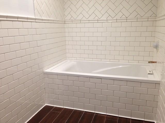 Subway Tile Bathroom Traditional Bathroom New York