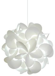 Medium Rounds Swag Plug in Pendant Lamp - Cool white glow - Pendant Lighting - by Akari Lanterns