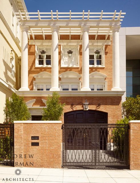 A classical revival townhouse traditional exterior for Modern classic building design
