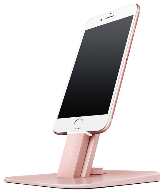 HiRise Deluxe Charging Pedestal for Devices, Rose Gold - Modern - Desk ...