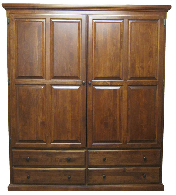 Traditional wardrobe natural alder armoires