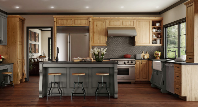 Kitchens in Millennia frameless cabinets  custom  Farmhouse