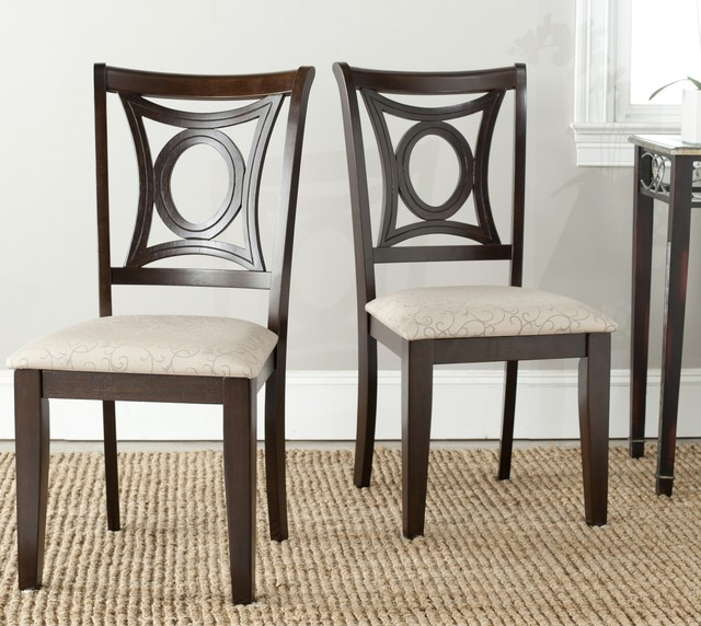 safavieh sophia beige side chairs set of 2 contemporary dining