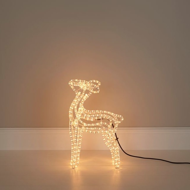 White soft glow freestanding baby reindeer silhouette for B q christmas decorations