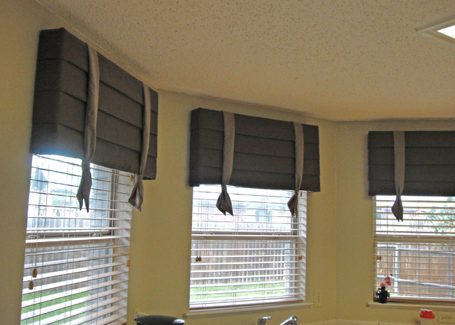 Cornice boards contemporary window treatments dallas for Modern blinds for windows