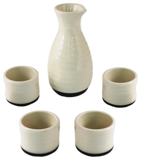 Sake Set - Asian - Liquor Glasses - by True Brands