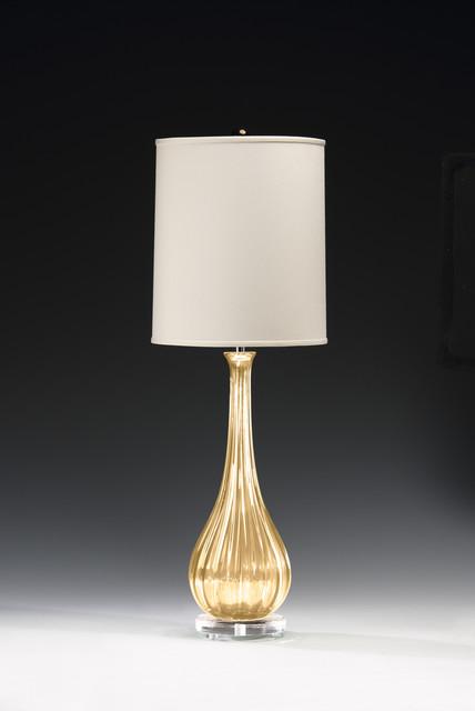 Venetian Glass Transitional Table Lamps New York