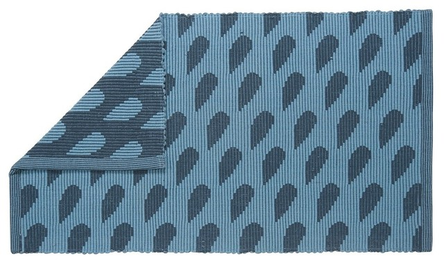 Raindrop Jacquard Mat Contemporary Bath Mats