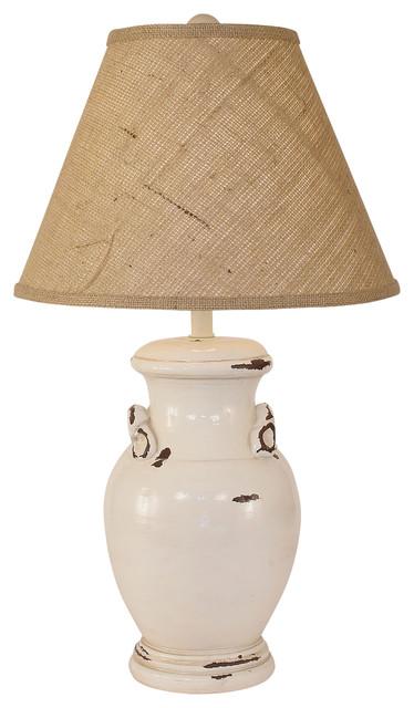 crock pot with handles lamp landhausstil tischleuchten. Black Bedroom Furniture Sets. Home Design Ideas