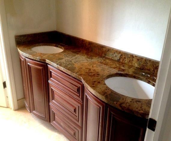 Vanity Side Splash : Bathroom countertops vanity tops and side splashes
