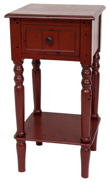 antique red accent tables 2