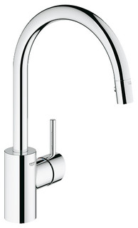 Pull Down kitchen faucet, Polished Chrome - Contemporary - Kitchen ...