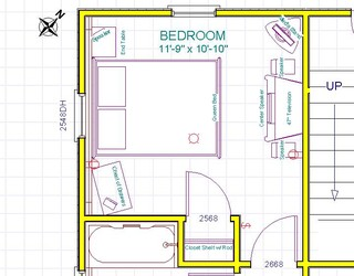 Bedroom furniture layout any good ideas