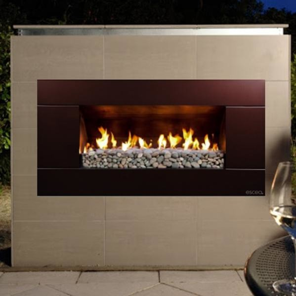 escea ef5000 outdoor propane fireplace bronze with new