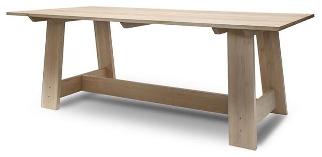 Churchill Raw Oak Dining Table