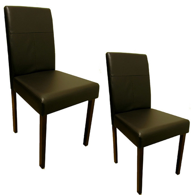 modern warehouse of tiffany brown dining room chairs set