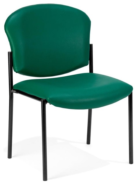 Armless vinyl upholstered stacking chair black contemporary office chairs by shopladder - Armless office chairs uk ...