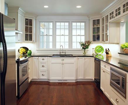 painting dark cabinets white 2