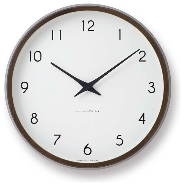campagne clock brown contemporary wall clocks east