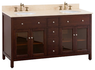 60 Rapallo Double Sink Vanity Traditional Bathroom Vanities And Sink Consoles San Diego
