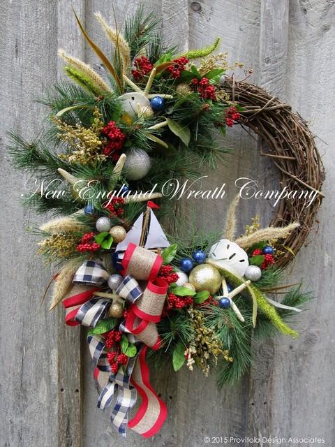Art Décor: Nautical Sailboat Holiday Wreath