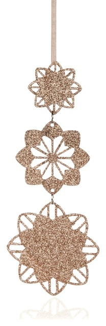 Champagne glittered tiered stars tree decoration for B q christmas decorations