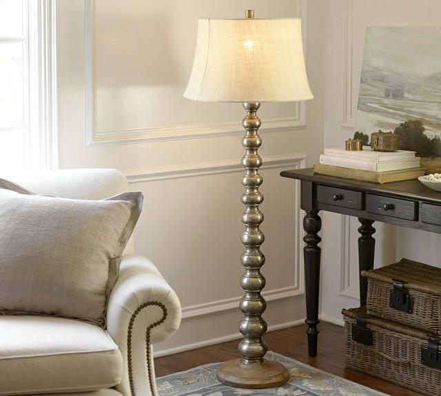Sherwood Stacked Floor Lamp Base Traditional Lamp