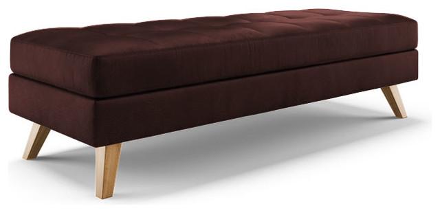 Worthy Leather Bench Brighton Aubergine Purple