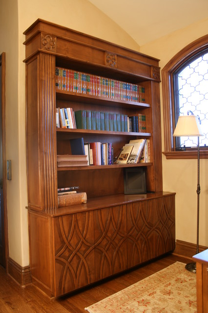 Hand Carved Bookshelf ~ Hand carved bookcase traditional bookcases los