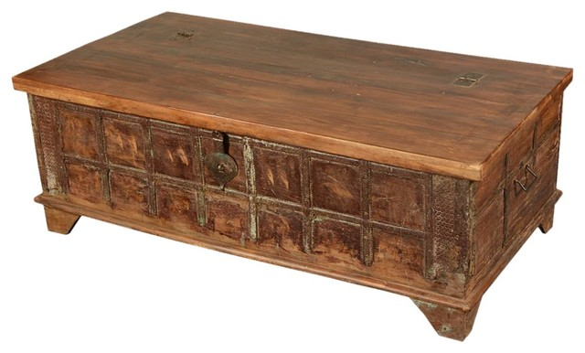 gothic reclaimed wood standing coffee table storage chest. Black Bedroom Furniture Sets. Home Design Ideas