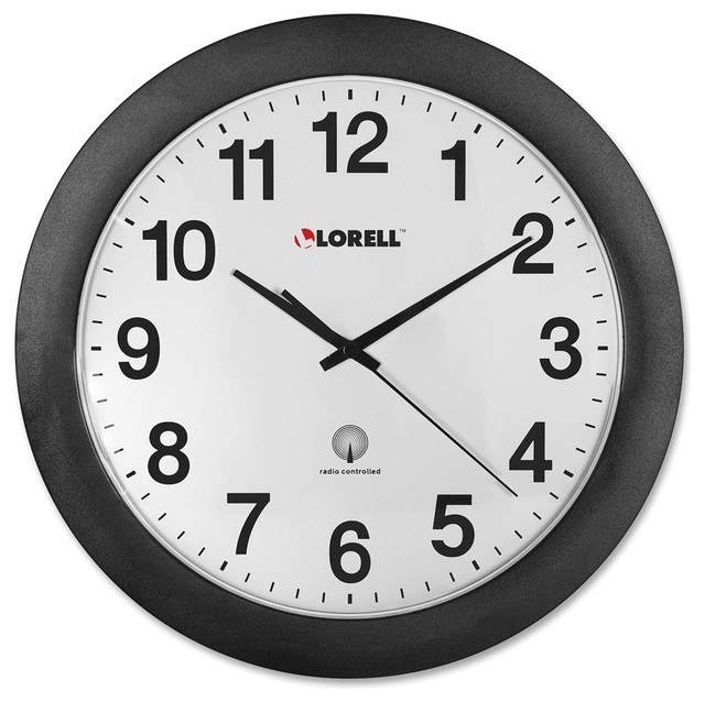 Lorell Radio Controlled Wall Clock - Digital - Quartz ...