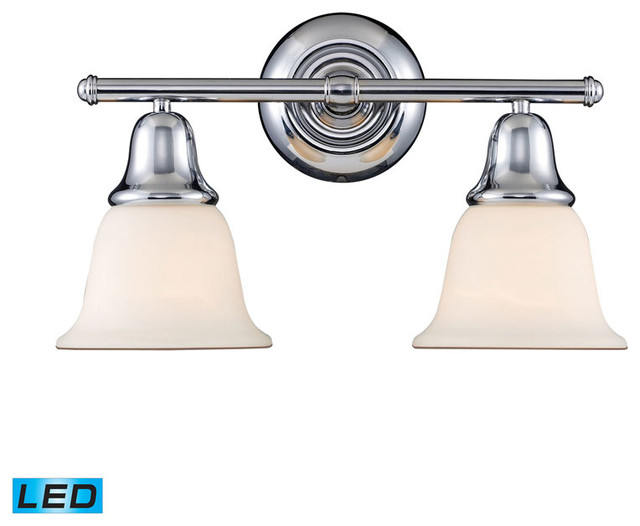 Led Vanity Lights Chrome : Berwick 2-Light Vanity, Polished Chrome, LED - Transitional - Bathroom Vanity Lighting - by ...