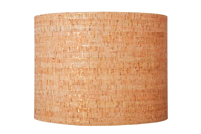 Metallic cork lampshade 16 x16 x11 contemporary for Wine cork lampshade
