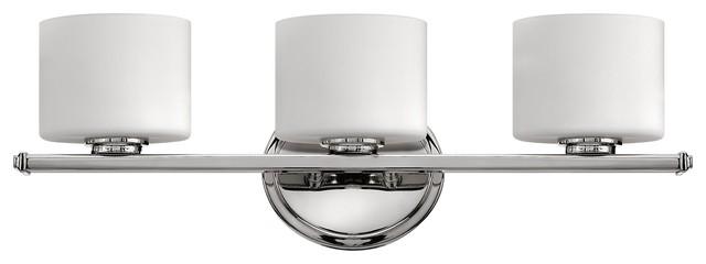 Chrome Bath Fans : Hinkley lighting ocho transitional bathroom vanity light