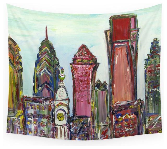 Society6 Philadelphia Skyline Wall Tapestry Tapestries